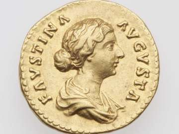 Aureus with bust of Faustina II, struck under Marcus Aurelius