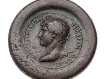 Framed medallion with bust of Hadrian