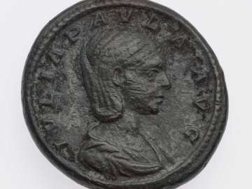 As with bust of Julia Paula, struck under Elagabalus