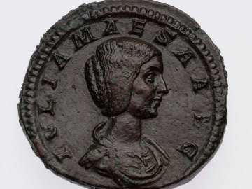 Sestertius with bust of Julia Maesa, struck under Elagabalus