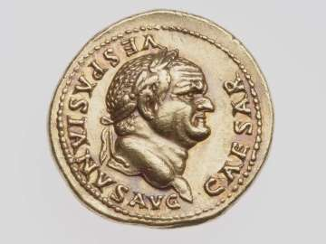 Aureus with head of Vespasian