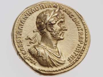 Aureus with bust of Hadrian