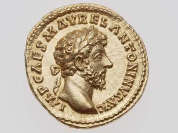 Aureus with head of Marcus Aurelius