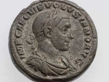 Medallion with bust of Volusian