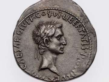 Cistophorus with head of Octavian
