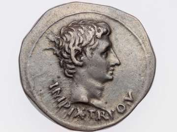 Cistophorus with head of Augustus