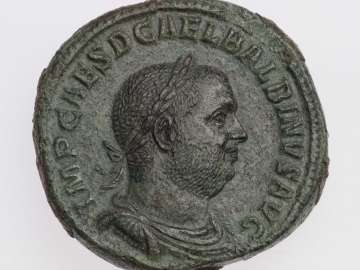 Sestertius with bust of Balbinus