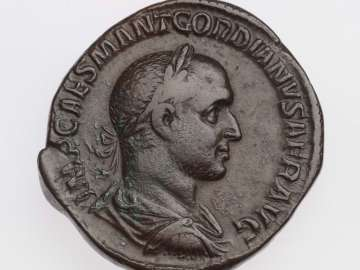 Sestertius with bust of Gordian I