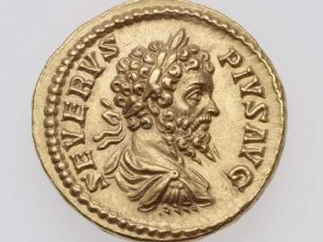 Aureus with bust of Septimius Severus