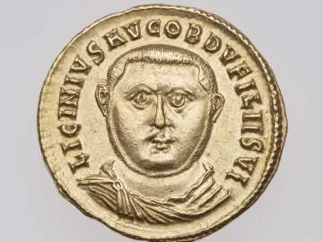 Aureus with bust of Licinius I