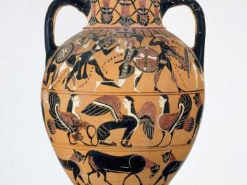Two-handled jar (Tyrrhenian neck-amphora)
