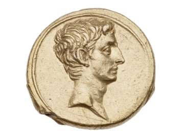 Aureus with head of Octavian