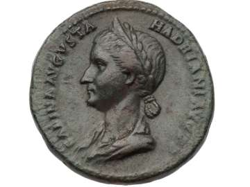 Dupondius with bust of Sabina, struck under Hadrian