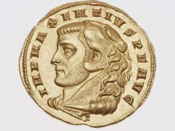 Medallion of two aurei with head of Maxentius