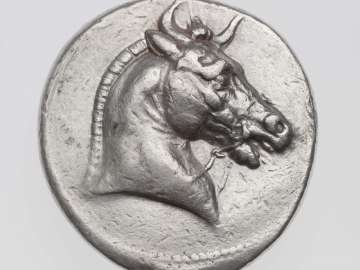 Tetradrachm of Kingdom of Syria with horned head of horse, struck under Seleukos I