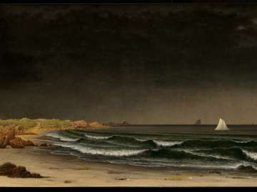 Approaching Storm: Beach near Newport