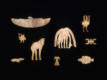 Ivory inlay of a vulture