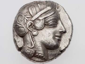 Tetradrachm of Gaza with head of Athena