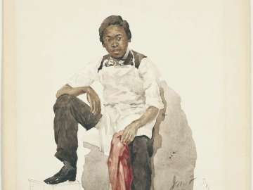 Young Man in White Apron