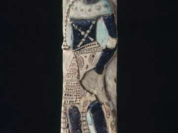 Tile with Nubian chief