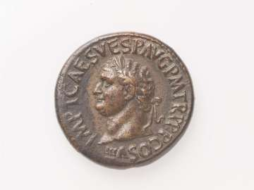 Sestertius with head of Titus
