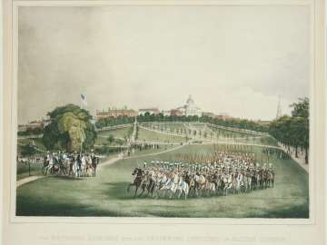 The National Lancers with the Reviewing Officers on Boston Common