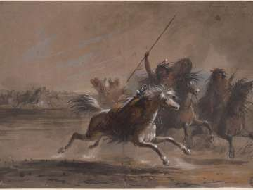 Running Fight, Sioux and Crows