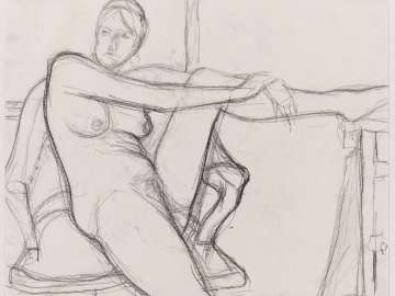 Seated Nude, Leg Raised