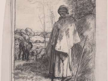 Study for Shepherdess Knitting (La Grande Bergère)