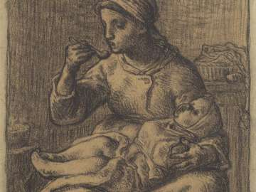 Study for Woman Feeding a Child