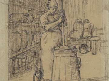 Study for Woman Churning Butter