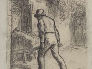 Study for Man with a Wheelbarrow