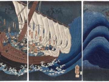 The Ghosts of the Taira Attack Yoshitsune in Daimotsu Bay