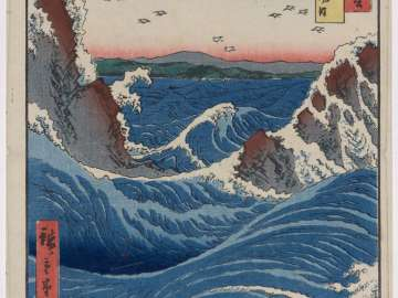 Awa Province: Naruto Whirlpools (Awa, Naruto no fûha), from the series Famous Places in the Sixty-odd Provinces [of Japan] ([Dai Nihon] Rokujûyoshû meisho zue)