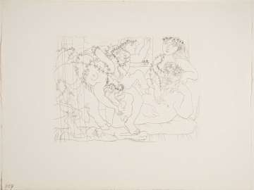 Sculptor Reclining and Bacchanalia with Bull