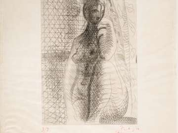 Femme Nue à la Jambe Pliée