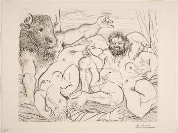 Bacchic Scene with Minotaur