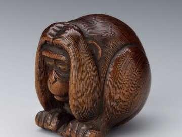 Crouching monkey
