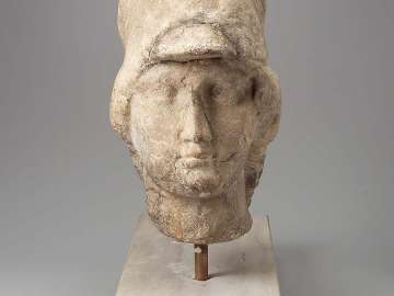 Head of Athena; Roman copy based on a Greek original