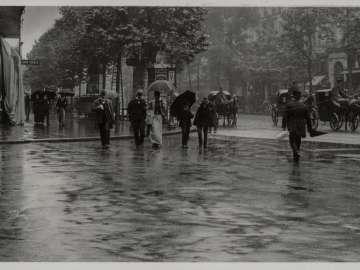 A Wet Day on the Boulevard (Paris)