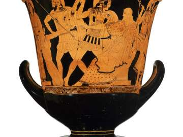 Mixing bowl (calyx krater) with scenes from the fall of Troy