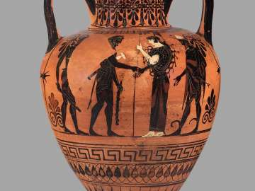 Two-handled jar (amphora) with Herakles