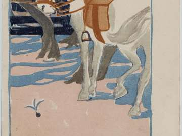 Horse with Saddle from the series Anthology of Works by Six Celebrated Western-style Painters (Roku taika gassaku)