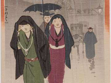 6 O'Clcok at Day in Yoshiwara (Kinuginu) from the series The Twelve Hours of the Yoshiwara