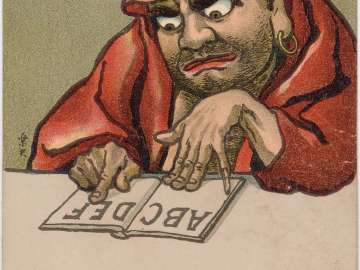 Daruma Studying his ABCs from the series The Popularization of Civilization