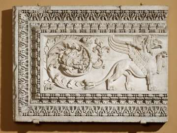 Architectural panel with a griffin