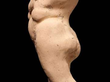 Caricature of a overweight nude woman