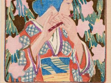 Princess and Flute from the series Beautiful Women and Music ( Bijin to onkyoku)