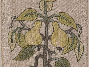 Small panel: Spray of pears for applique work