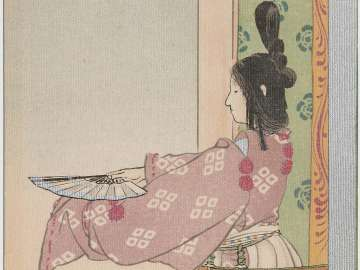 Shizuka Gozen from the series Historical Postcards (Rekishi ehagaki)